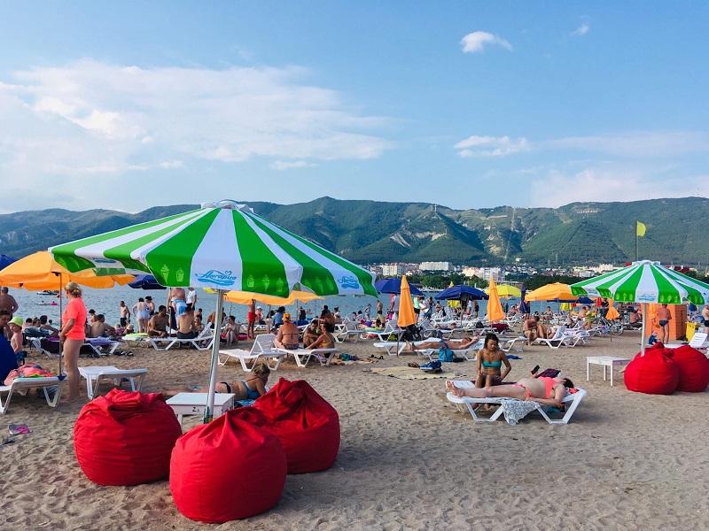 Геленджик, центральный пляж, август 2020