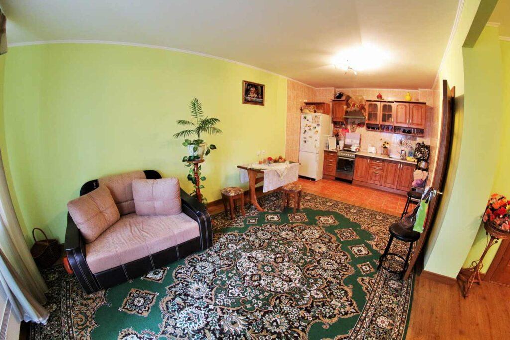 Комната, совмещённая с кухней